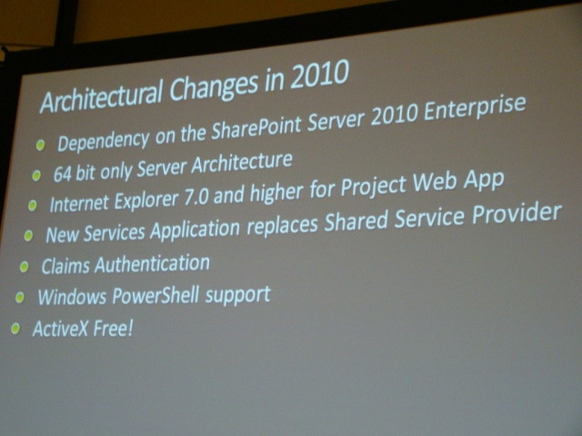 EPM 2010 - Architectural Changes in 2010